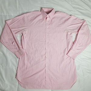 Thomas Pink Dress Shirt Mens 16.5 Purple Box Check